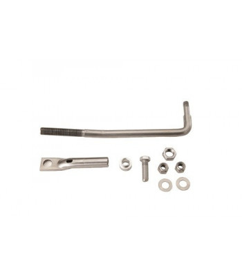Cable steering mounting set