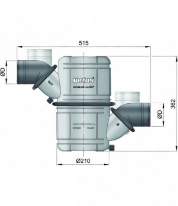 Dual stage waterlock with...